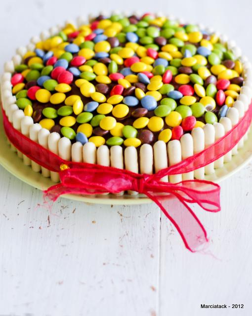 Gâteau smarties & fingers
