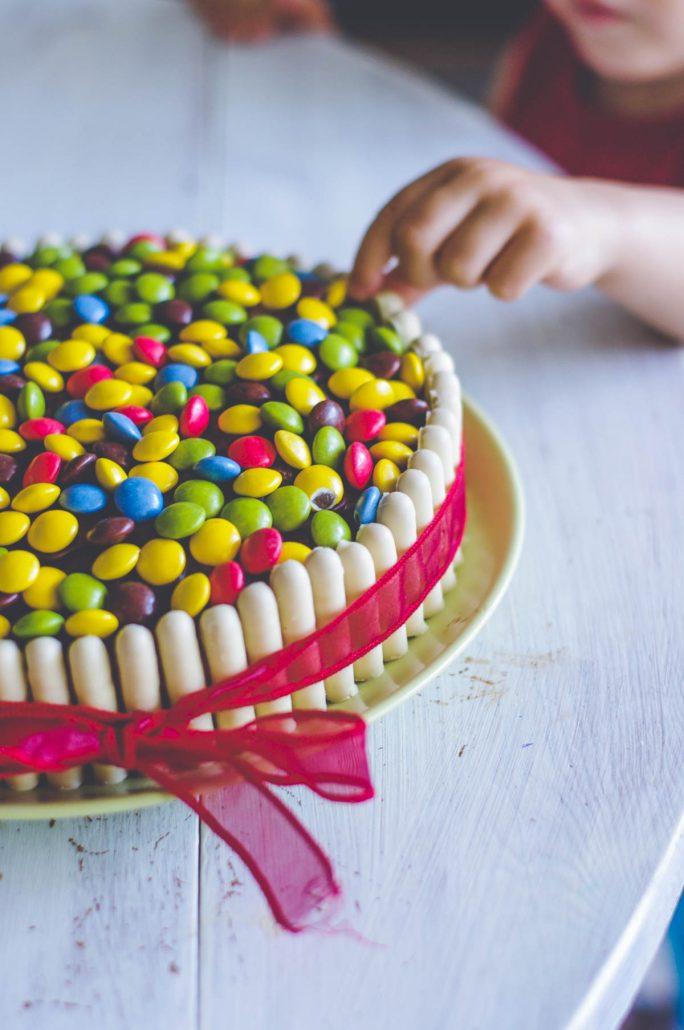 Gâteau d'anniversaire smarties