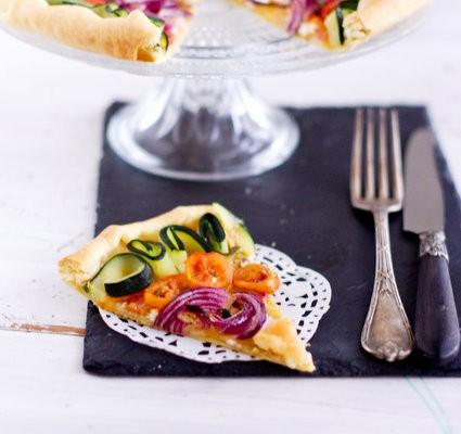 recette de tarte aux légumes et à la moutarde