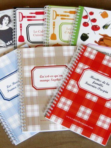 De jolis cahiers de cuisine personnalisables {Concours}