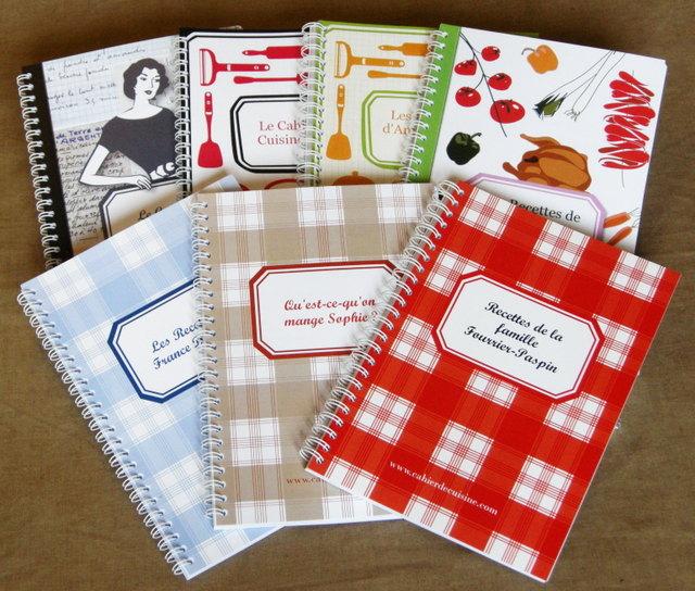 des cahiers de cuisine personnalisables concours marcia 39 tack. Black Bedroom Furniture Sets. Home Design Ideas
