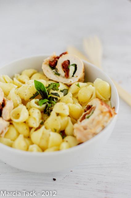 Roulade de poulet aux accents d'italie