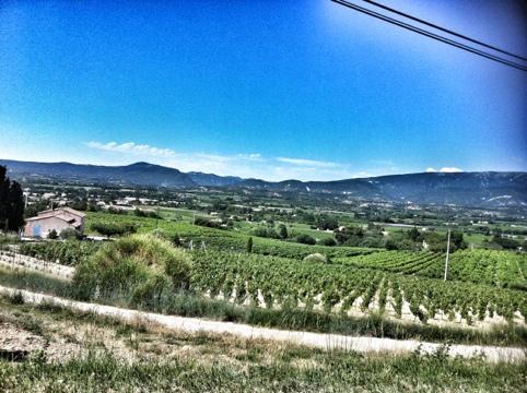 vue de Valreas depuis la côte de Vinsobres