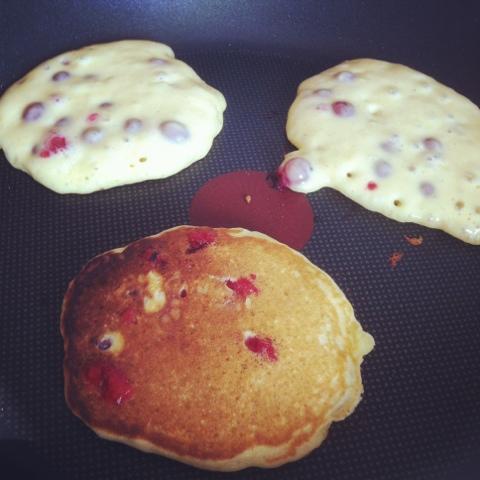 pancakes groseilles