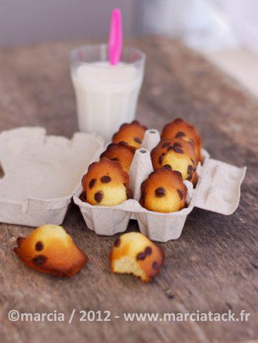 Recette de madeleines aux pépites de chocolat
