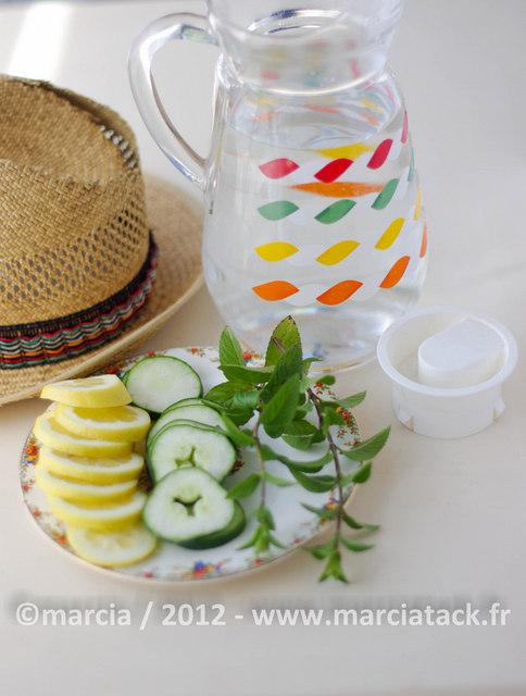 smoothie concombre citron menthe