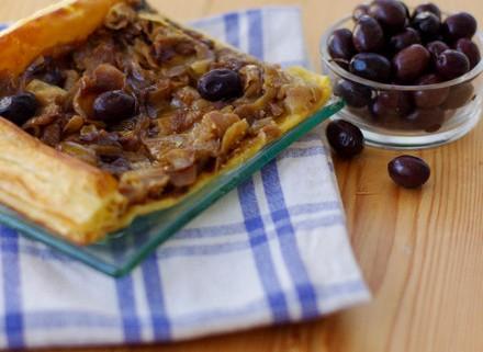recette rapide de la tarte à l'oignon