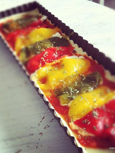 Recette facile de tarte aux poivrons