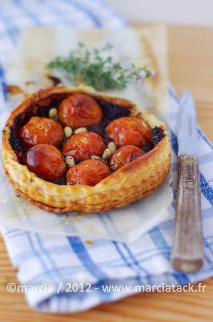 Tartelette tomates cerises tapenade