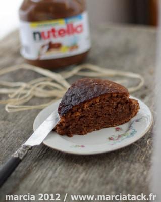recette de gâteau au nutella sans oeuf