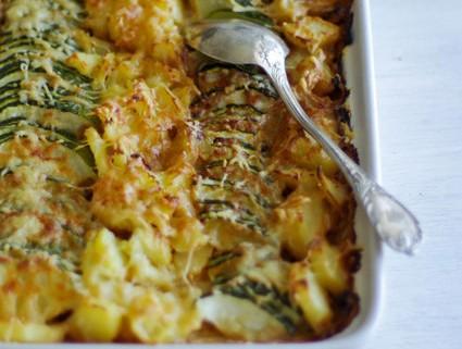 Recette de gratin de courgettes et de pommes de terre