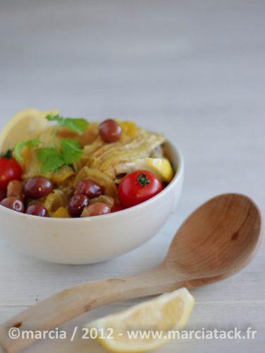 Recette facile de tajine de poulet au citron