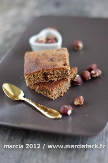 Brownies chocolat praliné