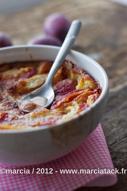 recette du clafoutis de prunes rouges
