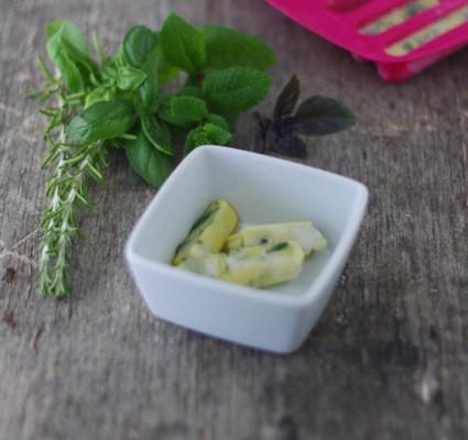 glaçons aux herbes aromatiques