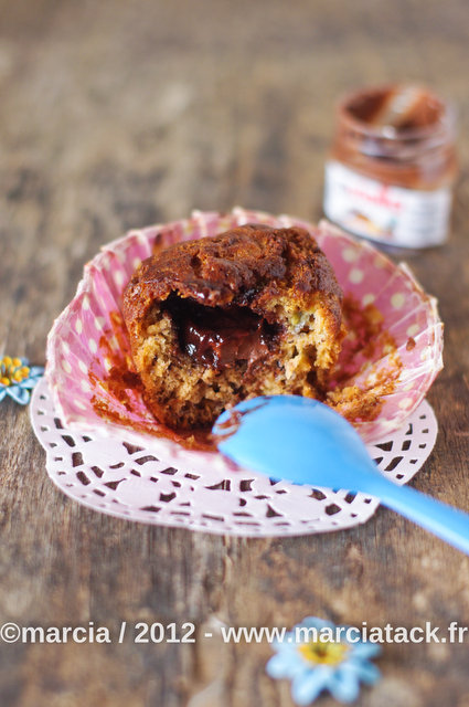 recette muffins banane et nutella