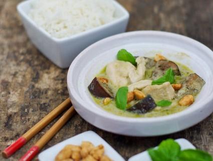 Recette thaïlandaise : Poulet au curry vert