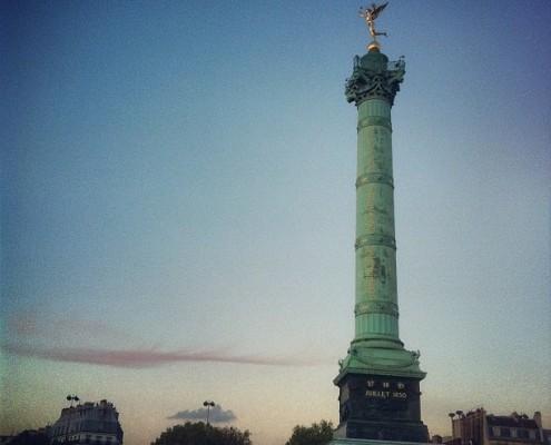 place de la bastille à Paris