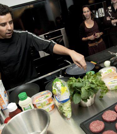 Préparation de burger abdel alaoui, bonduelle