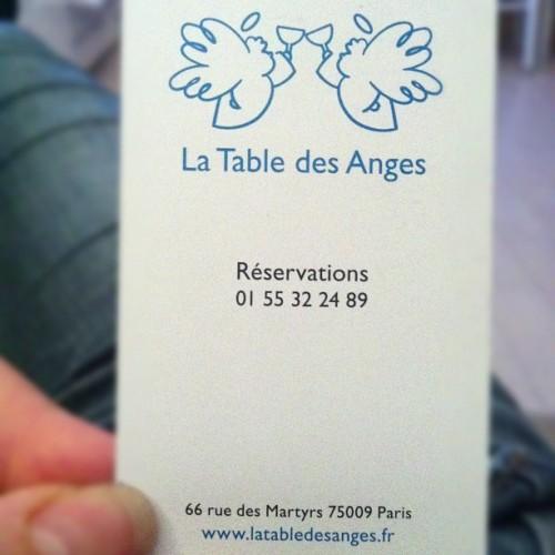 La table des anges