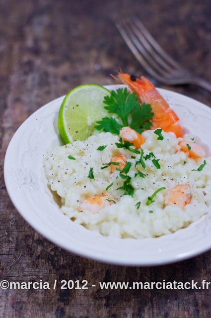 Recette facile de risotto au lait de coco et crevettes