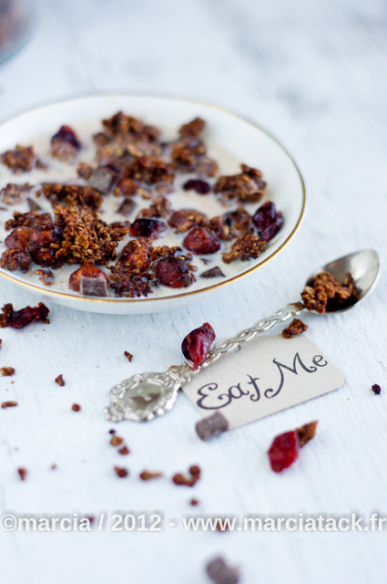 Recette du granola (muesli) au chocolat fait maison