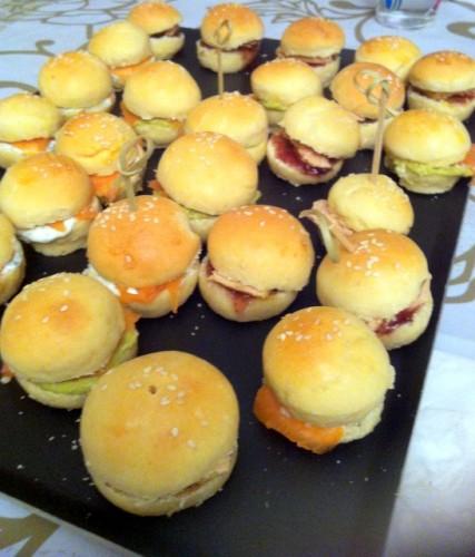 recette des mini burgers de foie gras et saumon