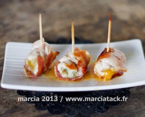 Recette apéro : Bouchées de poulet et fromage, recette facile