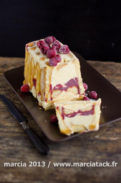 Charlotte glacée vanille et framboise - sans sorbetière