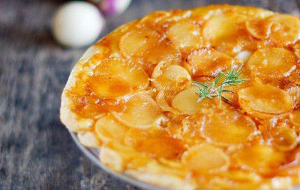 recette tarte tatin de navet, miel et chèvre