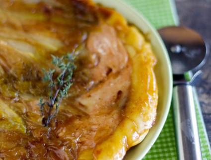 recette de la tarte tatin d'endives au saumon