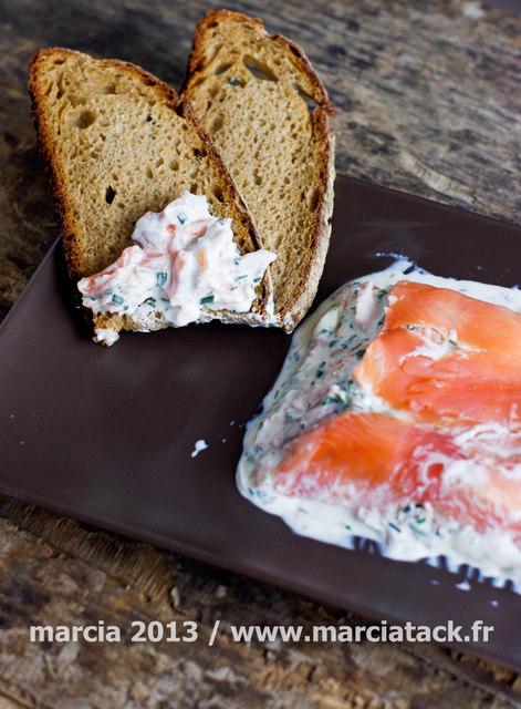 Terrine aux deux saumons et Fromage à Tartiner
