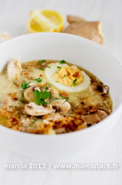 Soupe de nouilles aux accents indonésiens