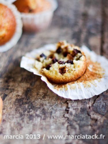recette de muffins à la vanille et chocolat