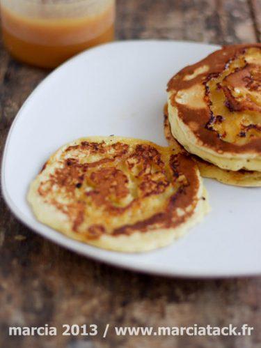 Recette de pancakes marbrés au caramel