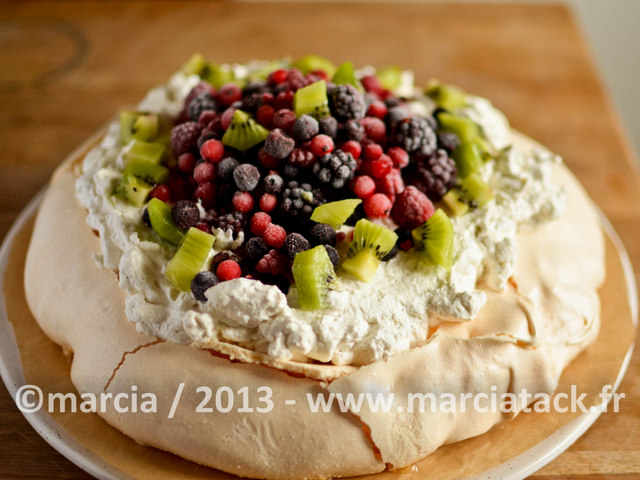 recette de pavlova aux fruits d'hiver