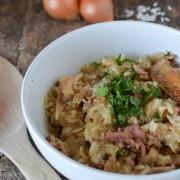 recette risotto au poulet (avec un reste de poulet rôti)