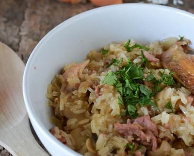Risotto de poulet lardons et champignons recette marcia 39 tack - Comment cuisiner un reste de poulet ...