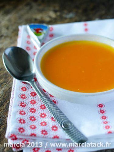 Recette de soupe de carottes vache qui rit