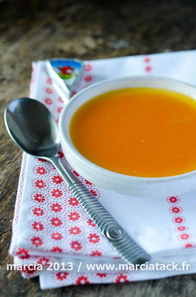 soupe de carottes vache qui rit