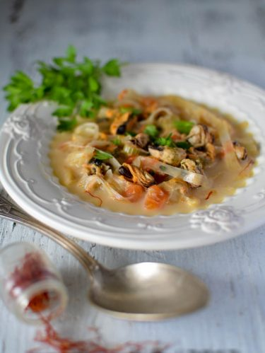 Recette de soupe de moules