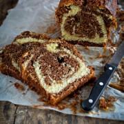 recette facile cake marbré au chocolat ultra-moelleux