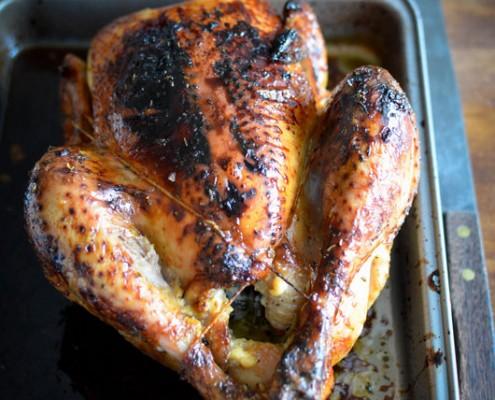 Recette de poulet roti au miel