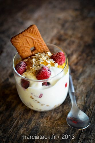 Recette dessert trifle framboises speculoos