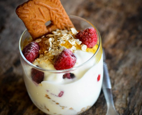 Recette dessert trifle framboises speculoos