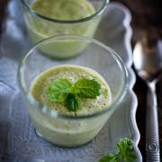 Recette rapide de gaspacho de concombre à la menthe