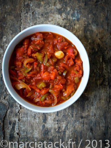 recette de la chouchouka aux poivrons