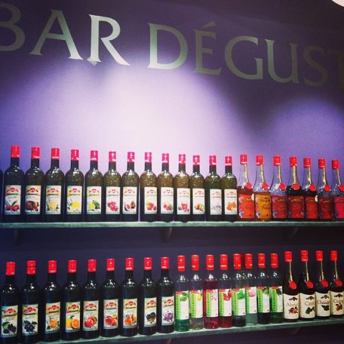 Le bar à dégustation