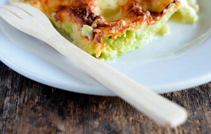 une part de lasagnes aux courgettes