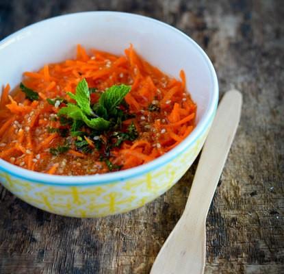 Recette de salade de carotte à l'orange à la marocaine